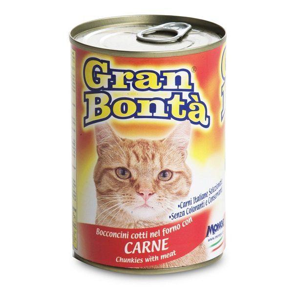 کنسرو غذای گربه gran bonta حاوی گوشت