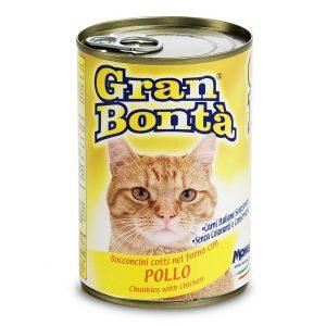 کنسرو غذای گربه gran bonta با طعم مرغ