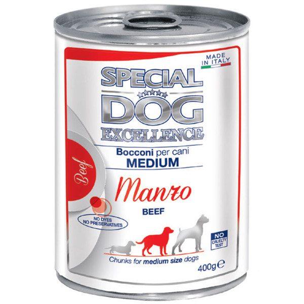 کنسرو غذای سگ اسپشیال داگ Chunks medium Beef