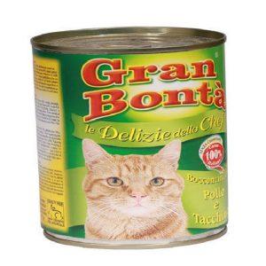 کنسرو غذای گربه gran bonta با طعم مرغ و بوقلمون