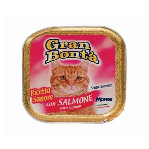 غذای پته گربه gran bonta حاوی ماهی سالمون