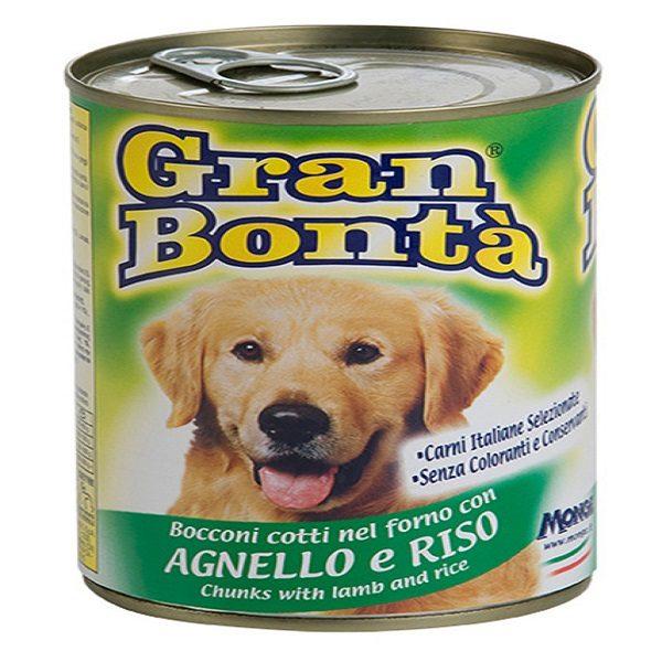 کنسرو غذای سگ gran bonta با طعم بره و برنج