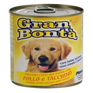 کنسرو غذای سگ gran bonta با طعم مرغ و بوقلمون
