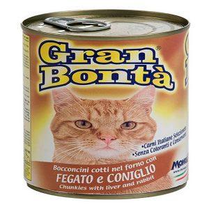 کنسرو غذای گربه gran bonta مدل Liver & Rabbit