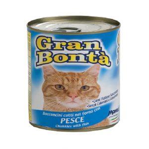 کنسرو غذای گربه gran bonta با طعم ماهی
