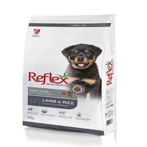 غذا خشک توله سگ رفلکس مدل Lamb & Rice