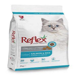 غذا خشک گربه رفلکس برای گربه های عقیم شده با طعم ماهی