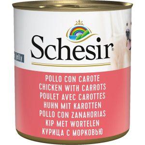 کنسرو سگ شسیر با طعم مرغ و هویج