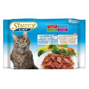 پوچ گربه مولتی پک استوزی با طعم ماهی سالمون