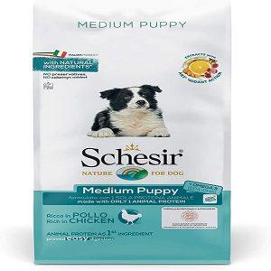 غذا خشک توله سگ متوسط شسیر با طعم مرغ