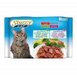 پوچ گربه مولتی پک استوزی با طعم مرغ و گوشت گوساله